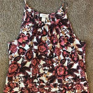 Women's LOFT floral tank top size medium